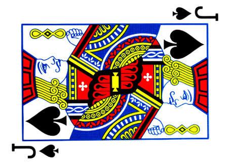 black jack: Jack of spades playing card Stock Photo