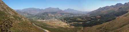 Franschhoek valley panorama Cape Town South Africa Stock Photo