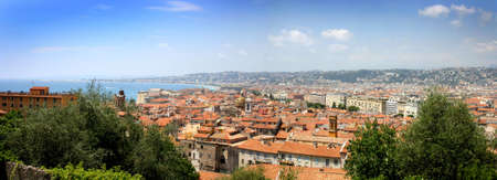Nice, France panorama view, French Mediterranean Riviera