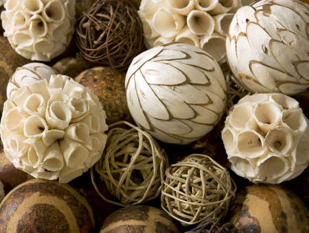 Decorative african christmas balls background