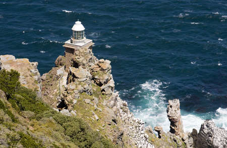 Cape Point where the atlantic and indian oceans meet near Cape Town, South Africa photo