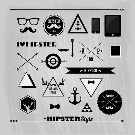 set of badges Illustration