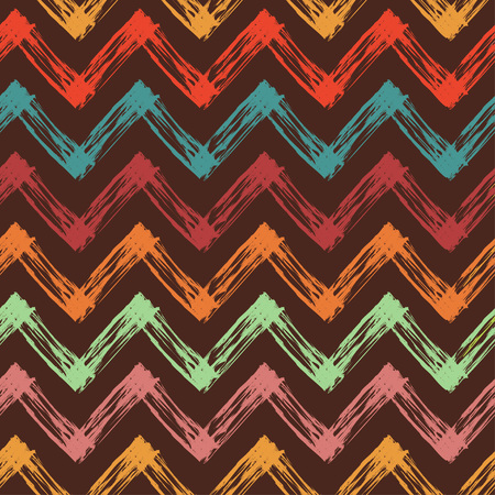 slovenly: vector seamless pattern with colorful zigzag lines, abstract vector background