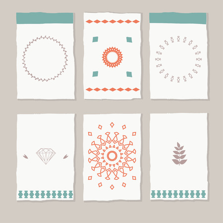 ethic: set of vector ethic boho cards and tags