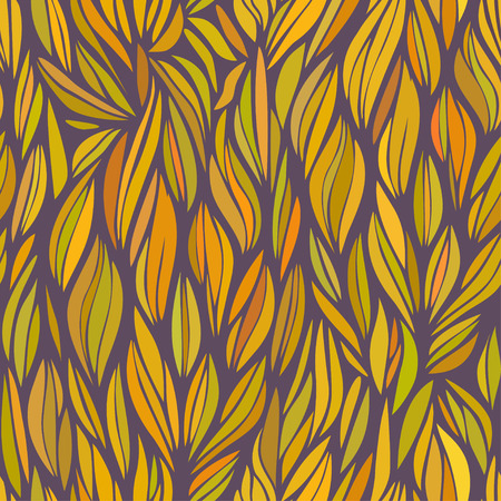 grass weave: abstract orange wavy patter, vector seamless pattern in autumn colors Stock Photo