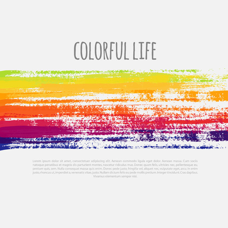 abstract background with colorful grunge lines, vector colorful banner Illustration