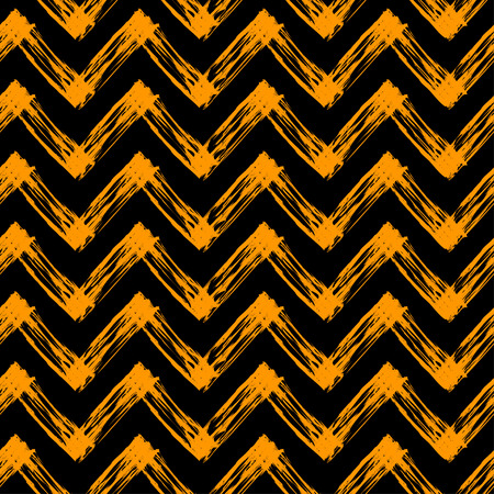 slovenly: vector seamless pattern for Halloween with black and orange zig zag lines Illustration