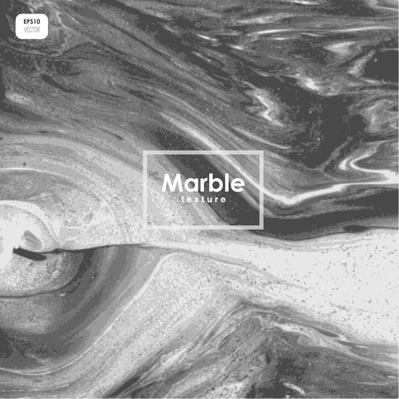 Abstract marble texture. Black and white stone background. Illustration