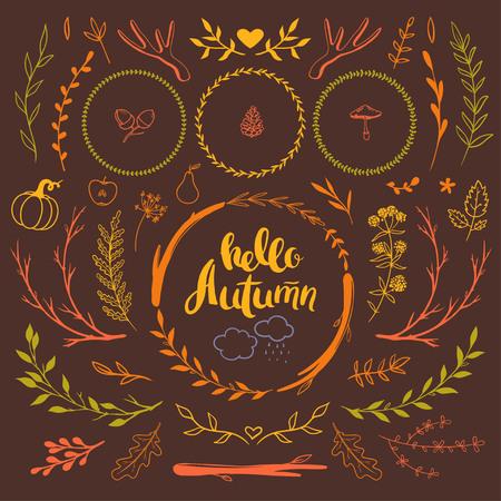 いたずら書きの秋セット