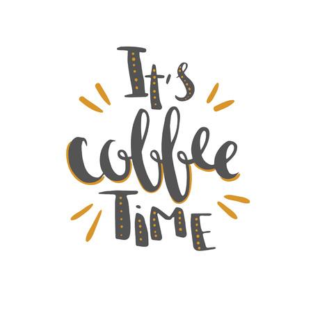 コーヒー時間手書きレタリング