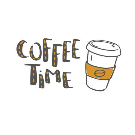 コーヒー時間ベクトルレタリング