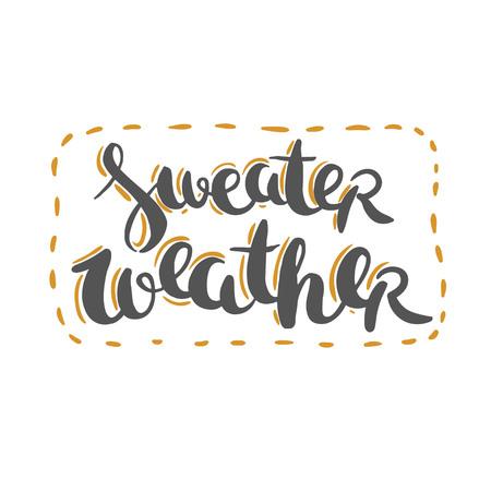 セーターの天気予報 - かわいいレタリング