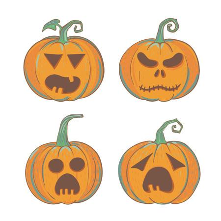 彫刻のハロウィンかぼちゃをセットします。