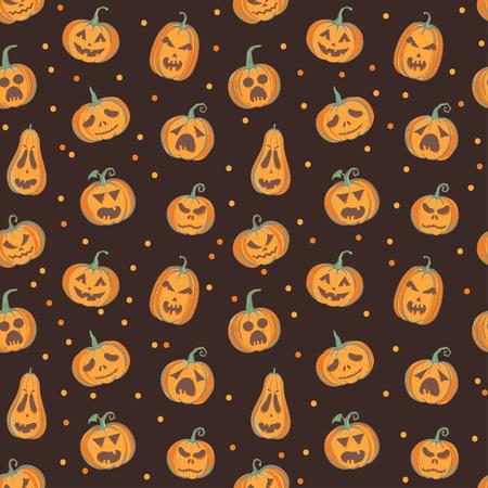 切り分けられたカボチャ、茶色とオレンジ色のハロウィン パターン
