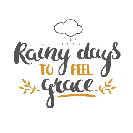 rhyme: Thanksgiving Day lettering Illustration