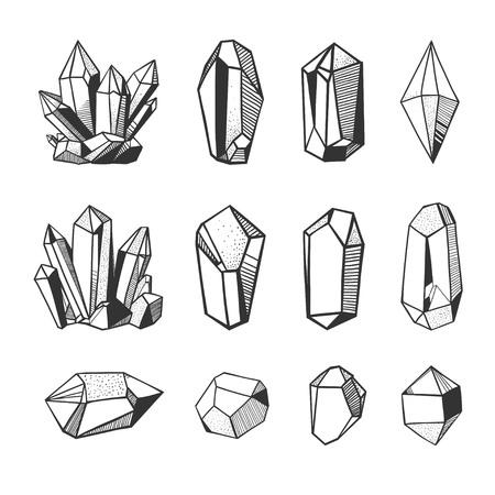 黒と白の宝石の図。