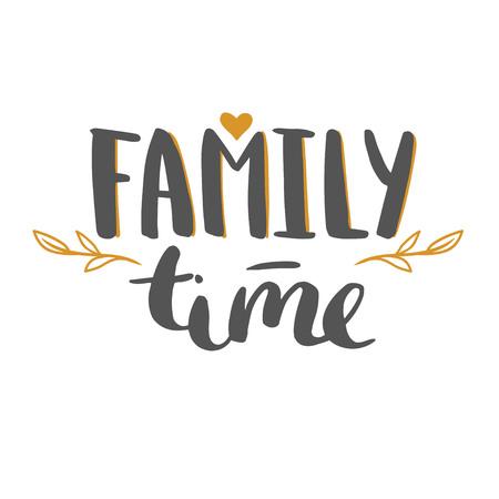 家族との時間。  イラスト・ベクター素材