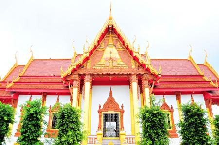 stair well: Warm side chapel of Wat Phra That Renu. Nakhonphanom Province, Thailand