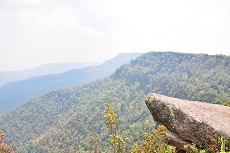 Stone cliffs located at Cliff on Phu Luang wildlife sanctuary, loei province, Thailand.  photo