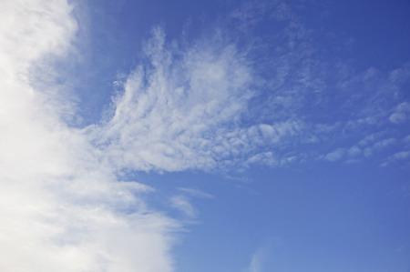 clound: soft clound on blue sky Stock Photo