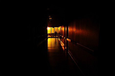 shafts: Seeing the light, shafts of sunset stream through window