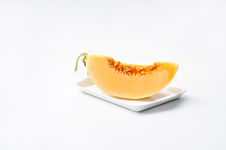 Cantaloupe Melons on Plate