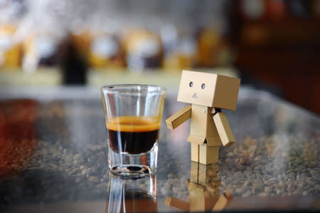 coffe tree: Danboard or Danbo and Coffee beans (Style Still Life)