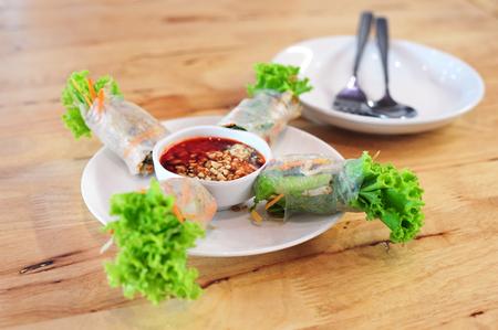 vegetable salad roll (Vietnamese style food)