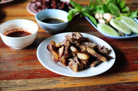 Slides Roast Beef (Thai Food)