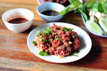 Spicy Raw Beef Salad (Northeastern Thailand Style Food)