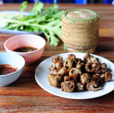 Grilled pork fillet (Style Thai Food)
