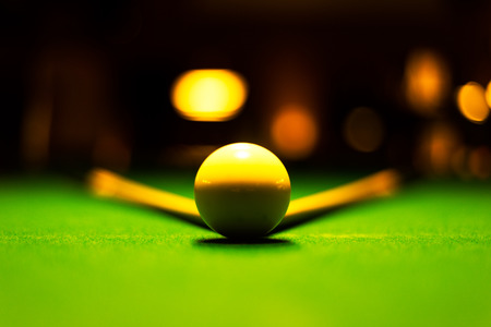 white ball snooker with two stick snooker in an amateur competition photo
