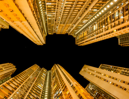 overcrowded: Overcrowded Apartment in Hong Kong in a residential Area