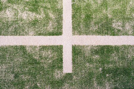 Tennis Court, artificial Grass Stock Photo