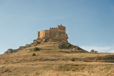 Charming Castle of Gormaz in Soria, Spain