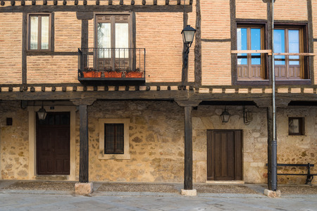 renovate old building facade: Old vintage House in Soria, Spain