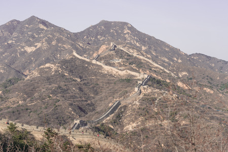 the great wall: Endless Great Wall of China