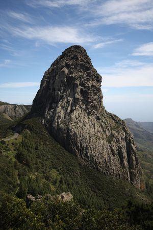 cano: Agando rock in La Gomera in Canary Islands