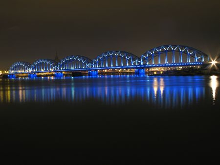 riga: Railroad bridge in Riga