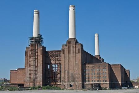 battersea: Battersea Power Station in Battersea, an inner-city district of South West London, UK Stock Photo
