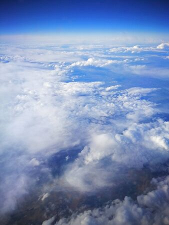 Cloud formations photographed from above from an airplane Stock Photo