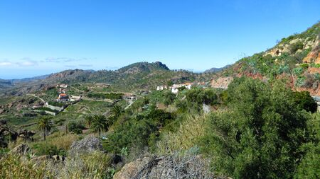 View in a valley on Gran Canaria, Canarian islands, SpainGran Canaria.