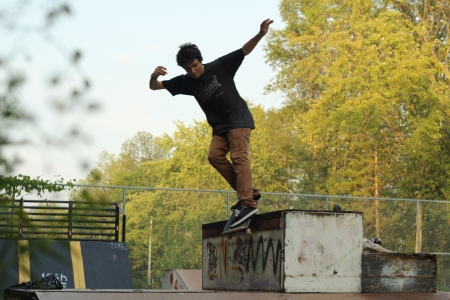 This is my brother he is amazing at skateboarding