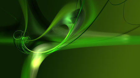 Green wispy flame fractal on a green background, perfect for a desktop screen.