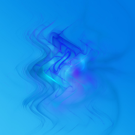 Blue squiggly fractal on a blue and white gradient background perfect for desktop