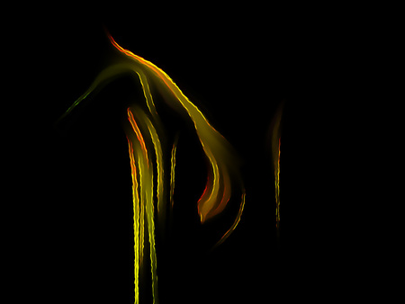 Fractal flame on a black background. Perfect for design work, backgrounds or desktop wallpapers