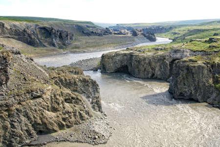 stone volcanic stones: Jokulsa a Fjollum river