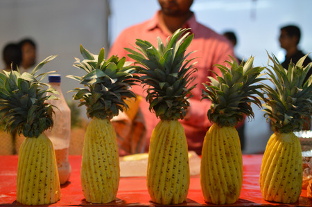 well crafted pineapples on some exhibition