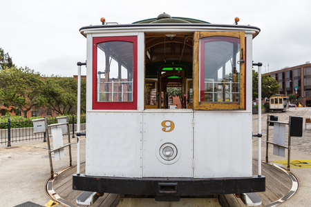 hyde: A close view of a cable car turnaround in San Francisco Stock Photo