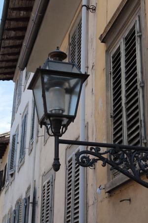light fixture: Light Fixture Streets Florence Stock Photo